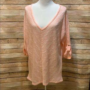 Peach Perch lightweight sweater